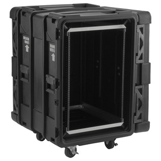 SKB 24'' Deep 16U Roto Shockmount Rack Case - Angled Open