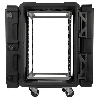 SKB 24'' Deep 16U Roto Shockmount Rack Case - Front Open