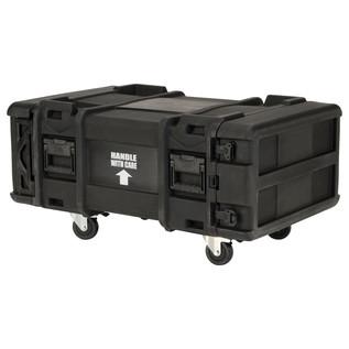 SKB 28'' Deep 4U Roto Moulded Shock Rack Case - Angled