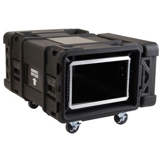 SKB 28'' Deep 6U Roto Moulded Shock Rack Case - Angled Open