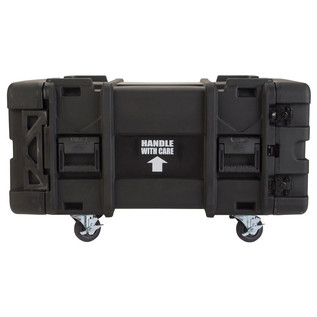 SKB 28'' Deep 6U Roto Moulded Shock Rack Case - Side View