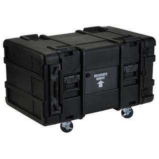 SKB 28'' Deep 8U Roto Moulded Shock Rack Case - Angled