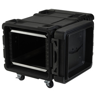 SKB 28'' Deep 8U Roto Moulded Shock Rack Case - Angled Open 2