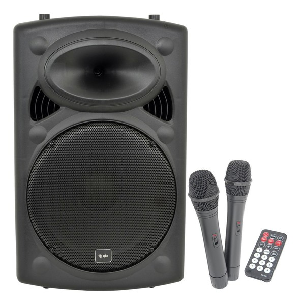 QTX Sound QR15PA Portable PA System with Wireless Mics - Nearly New