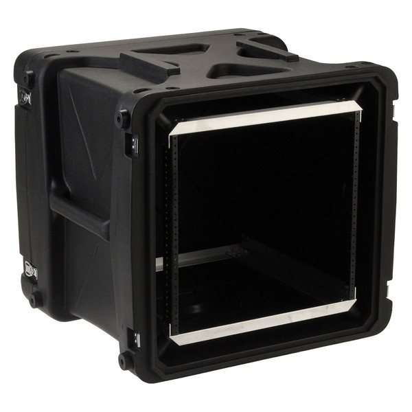 SKB 20'' Deep 10U Roto Shockmount Rack Case - Angled Open