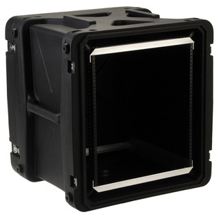 SKB 20'' Deep 12U Roto Shockmount Rack Case - Angled Open
