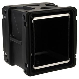 SKB 20'' Deep 12U Roto Shockmount Rack Case - Angled Open