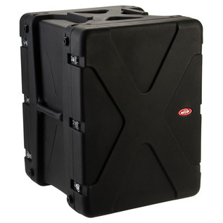 SKB 20'' Deep 16U Roto Shockmount Rack Case - Angled 2