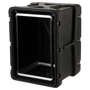 SKB 20'' Deep 16U Roto Shockmount Rack Case - Angled Open