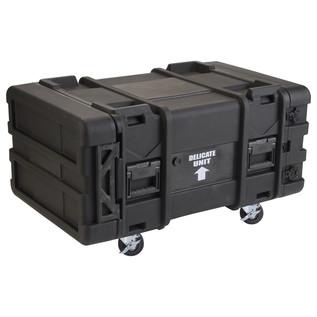 SKB 30'' Deep 6U Roto Moulded Shock Rack Case - Angled