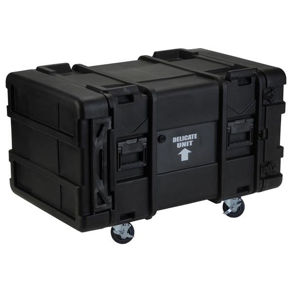 SKB 30'' Deep 8U Roto Moulded Shock Rack Case - Angled 2