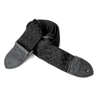 Fender 2'' Nylon Jacquard Strap, Black Satin Diamond