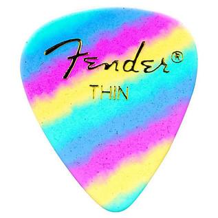 Fender 351 Shape Premium Rainbow Picks, Thin, Pack of 12