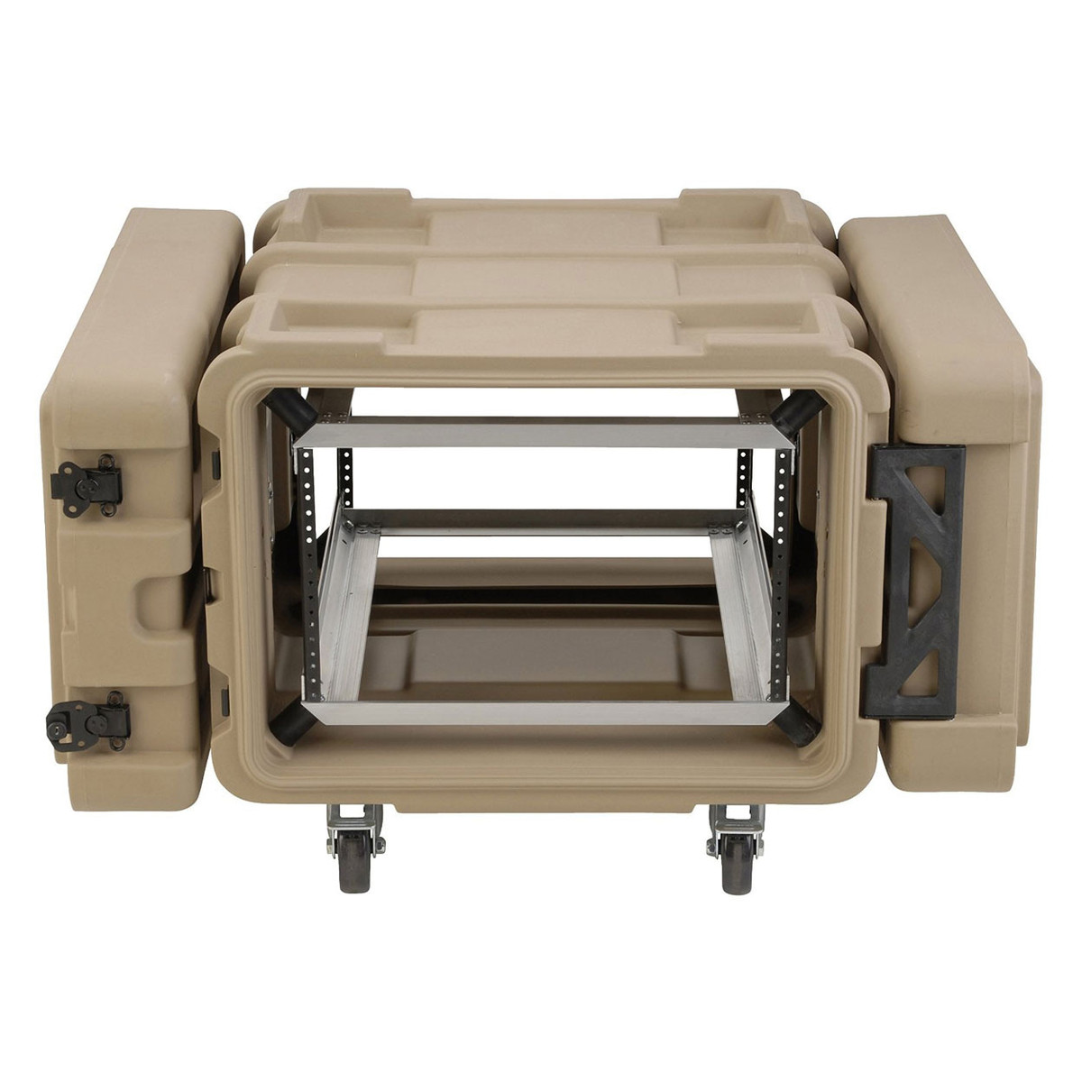 Click to view product details and reviews for Skb 24 Deep 6u Roto Shockmount Rack Case Tan.