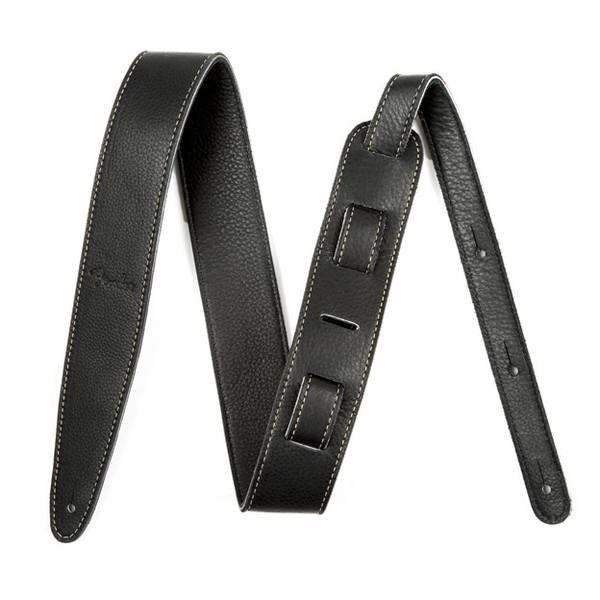 "Fender Artisan Crafted Leather Guitar Strap, 2"" Black"