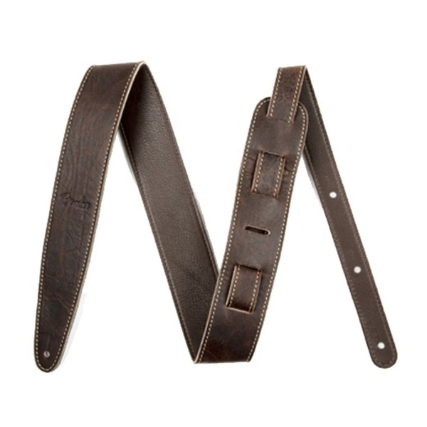 "Fender Artisan Crafted Leather Guitar Strap, 2"" Brown"
