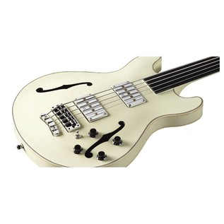 Warwick Rockbass StarBass 5-String Fretless Bass, Cream White