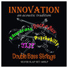 Innovation Silber Slap Kontrabass Saiten Set