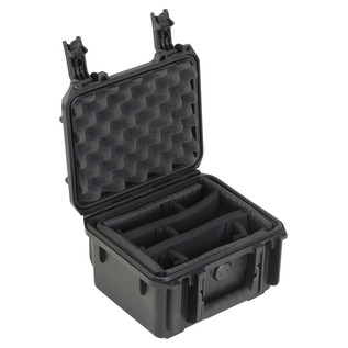 SKB iSeries 0907-4 Waterproof Case (With Dividers) - Angled Open 2