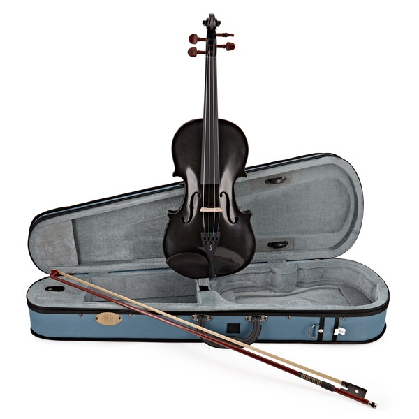 Stentor Harlequin Violin Outfit, Black, 1/2 main