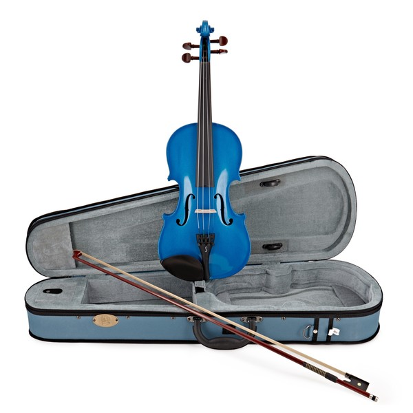 Stentor Harlequin Violin Outfit, Marine Blue, 1/4 main