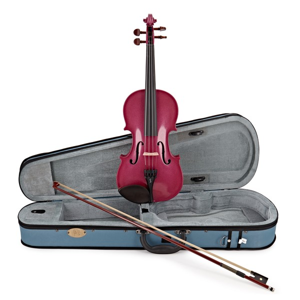 Stentor Harlequin Violin Outfit, Raspberry Pink, 1/4, main