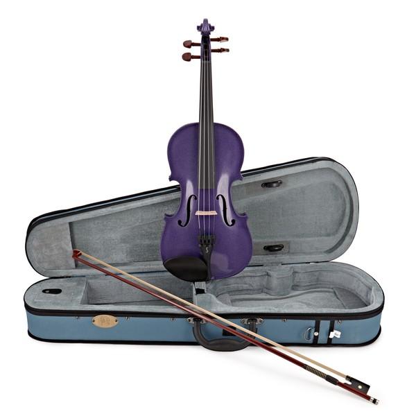 Stentor Harlequin Violin Outfit, Deep Purple, 1/4 main