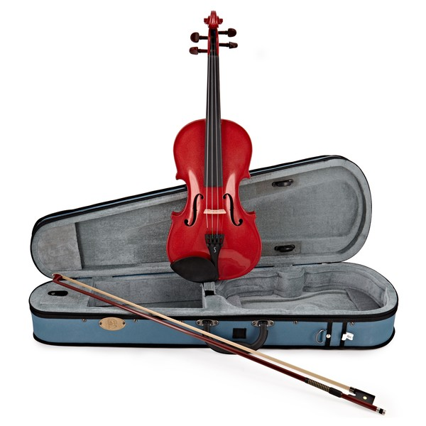 Stentor Harlequin Violin Outfit, Cherry Red, 3/4 main