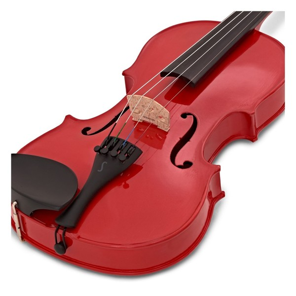 Stentor Harlequin Violin Outfit, Cherry Red, 1/2 close