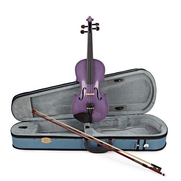 Stentor Harlequin Violin Outfit, Light Purple, 1/2 main
