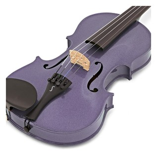Stentor Harlequin Violin Outfit, Light Purple, 1/2 close