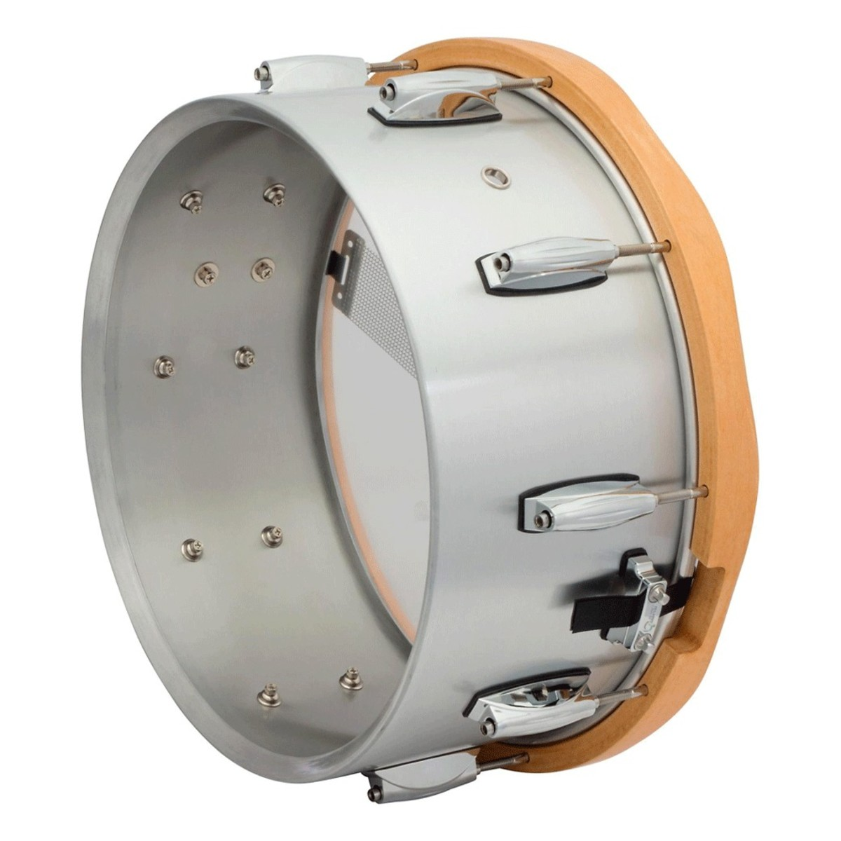 gretsch 14 x 6 5 aluminium gold series snare drum with wood hoops at gear4music. Black Bedroom Furniture Sets. Home Design Ideas