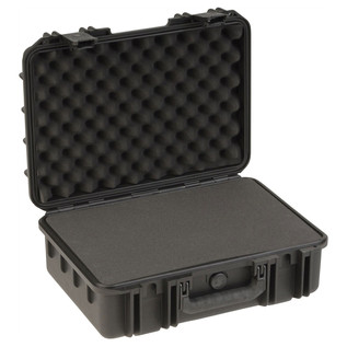 SKB iSeries 1711-6 Waterproof Case (With Cubed Foam) - Angled Open 2