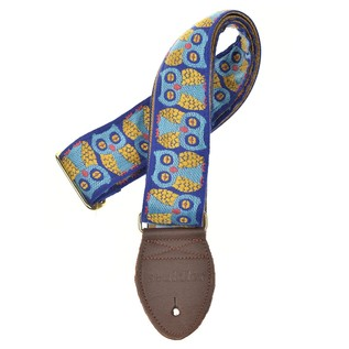 Souldier Guitar Strap Owls, Blue and Gold