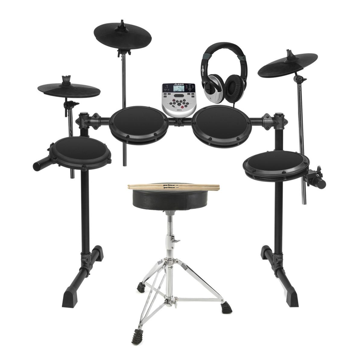 DISC Alesis DM7X Electric Drum Kit with Free Sticks, Stool