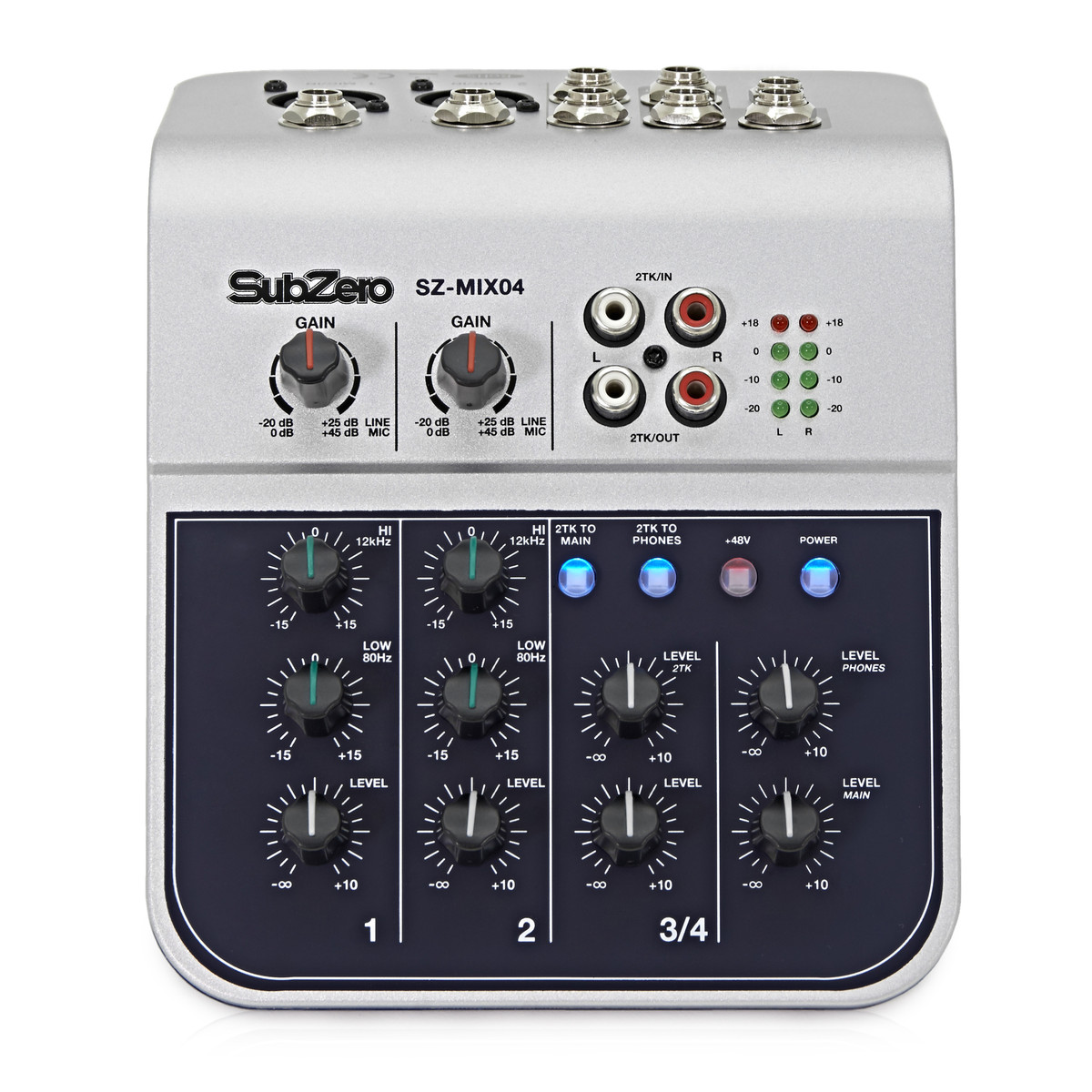 subzero sz mix04 4 channel mini mixer at gear4music. Black Bedroom Furniture Sets. Home Design Ideas