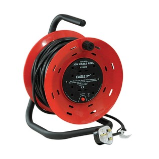 Eagle 4 Gang UK 13A Extension Reel, 30m