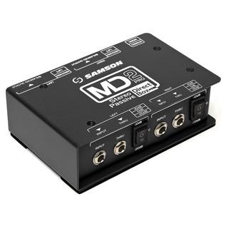 Samson MD2 Passive Stereo DI Box - Angled
