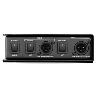 Samson MD2 Passive Stereo DI Box - Rear