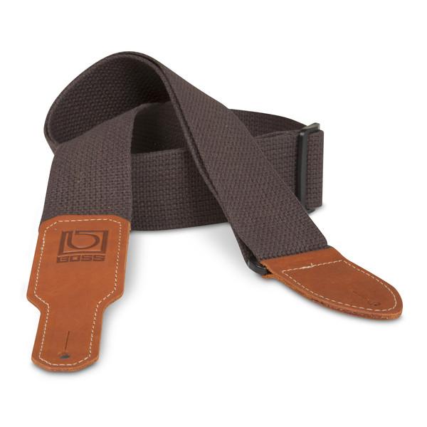 "Boss 2"" Brown Cotton guitar strap"