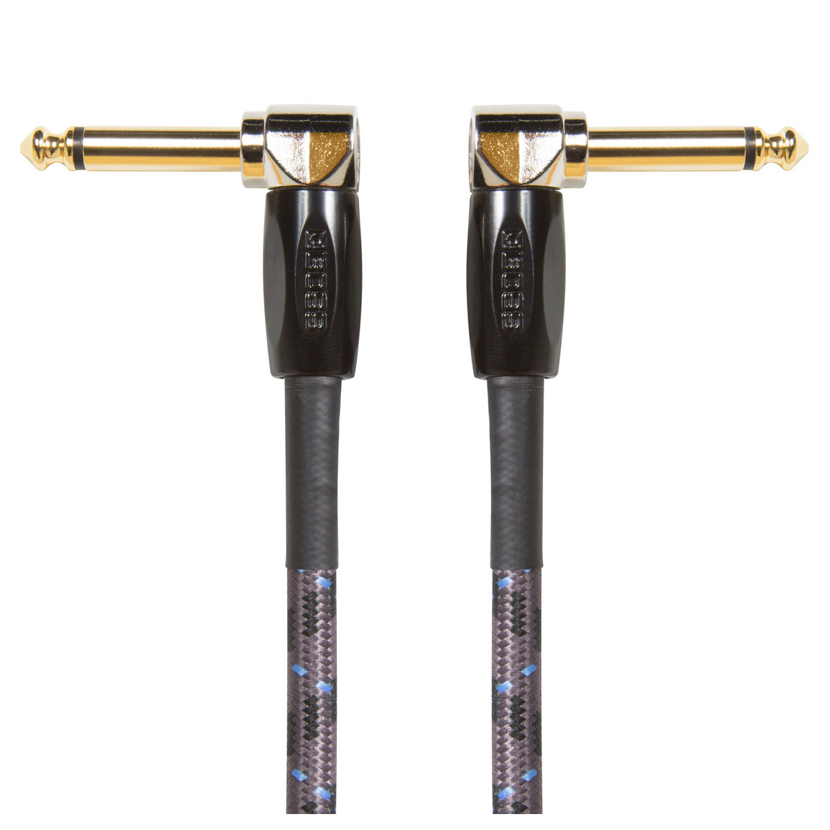 """Boss 1ft / 30cm Instrument Cable Angled/Angled 1/4"""" Jack"""