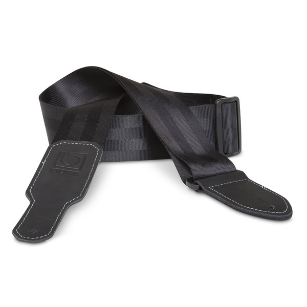"Boss 2"" Black Seatbelt Guitar Strap"