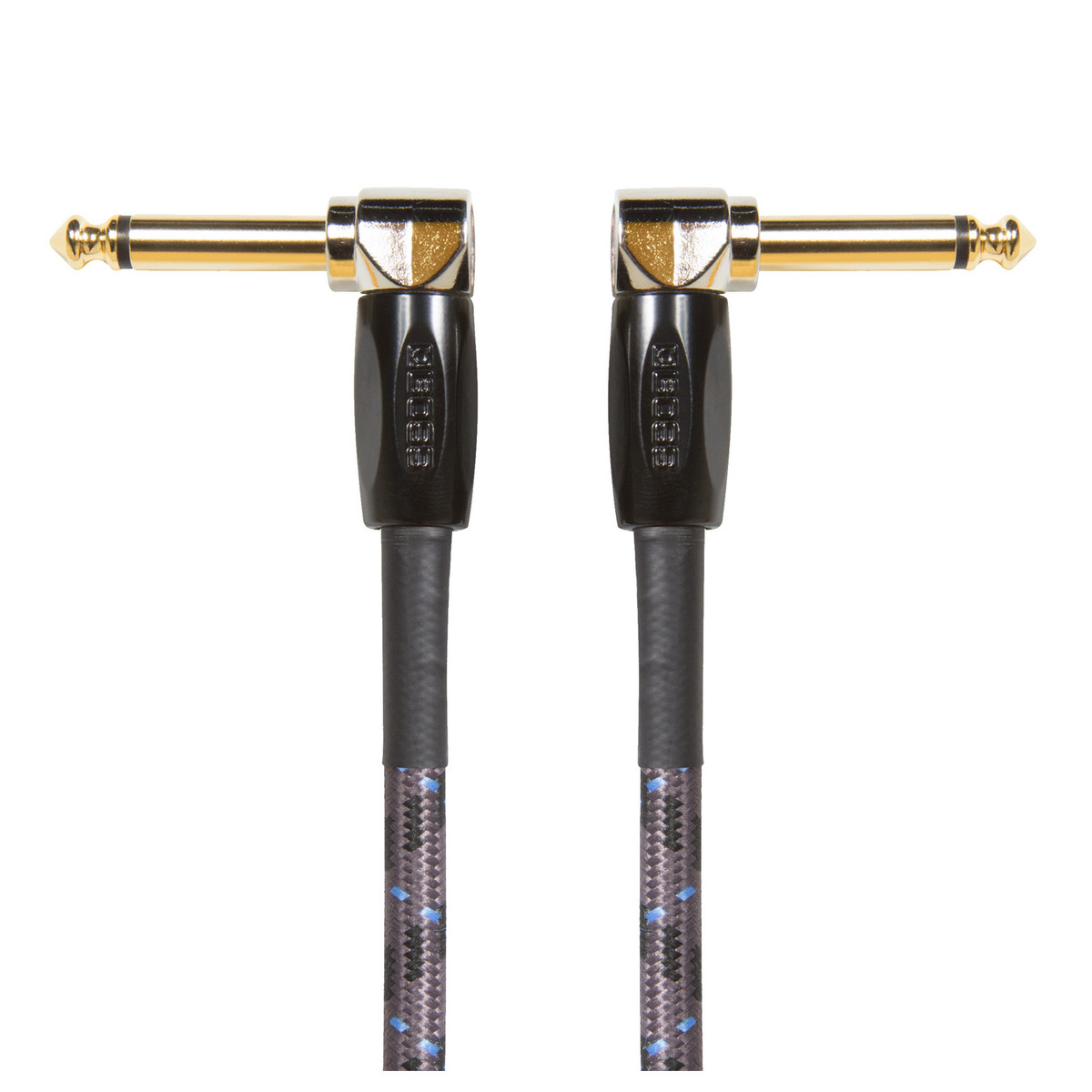 """Boss 6"""" / 15cm Instrument Cable Angled/Angled 1/4"""" Jack 3 Pack"""