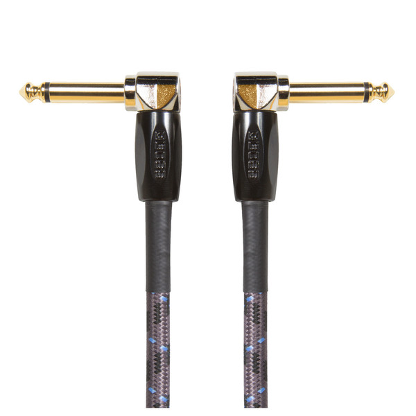 "Boss 6"" / 15cm Instrument Cable, Angled/Angled 1/4"" Jack, 3-pack"