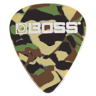 BOSS Celluloid Pick Thin 12 Pack, Camo - Singular Pick