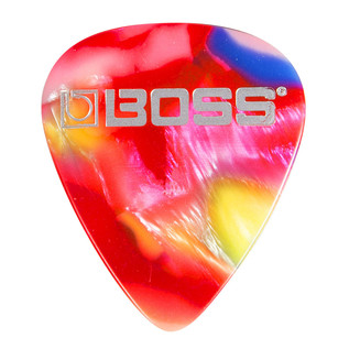 BOSS Celluloid Pick Medium 12 Pack, Mosaic - Singular Pick
