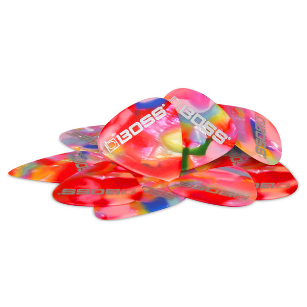 BOSS Celluloid Pick Thin 12 Pack, Mosaic - Pack
