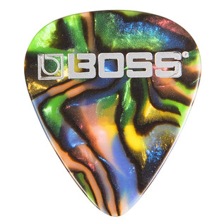 BOSS Celluloid Pick Heavy 72 Pack, Abalone - Singular Pick