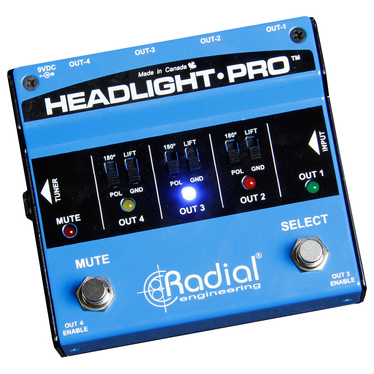 Click to view product details and reviews for Radial Headlight Pro Di Compact Guitar Amp Selector.