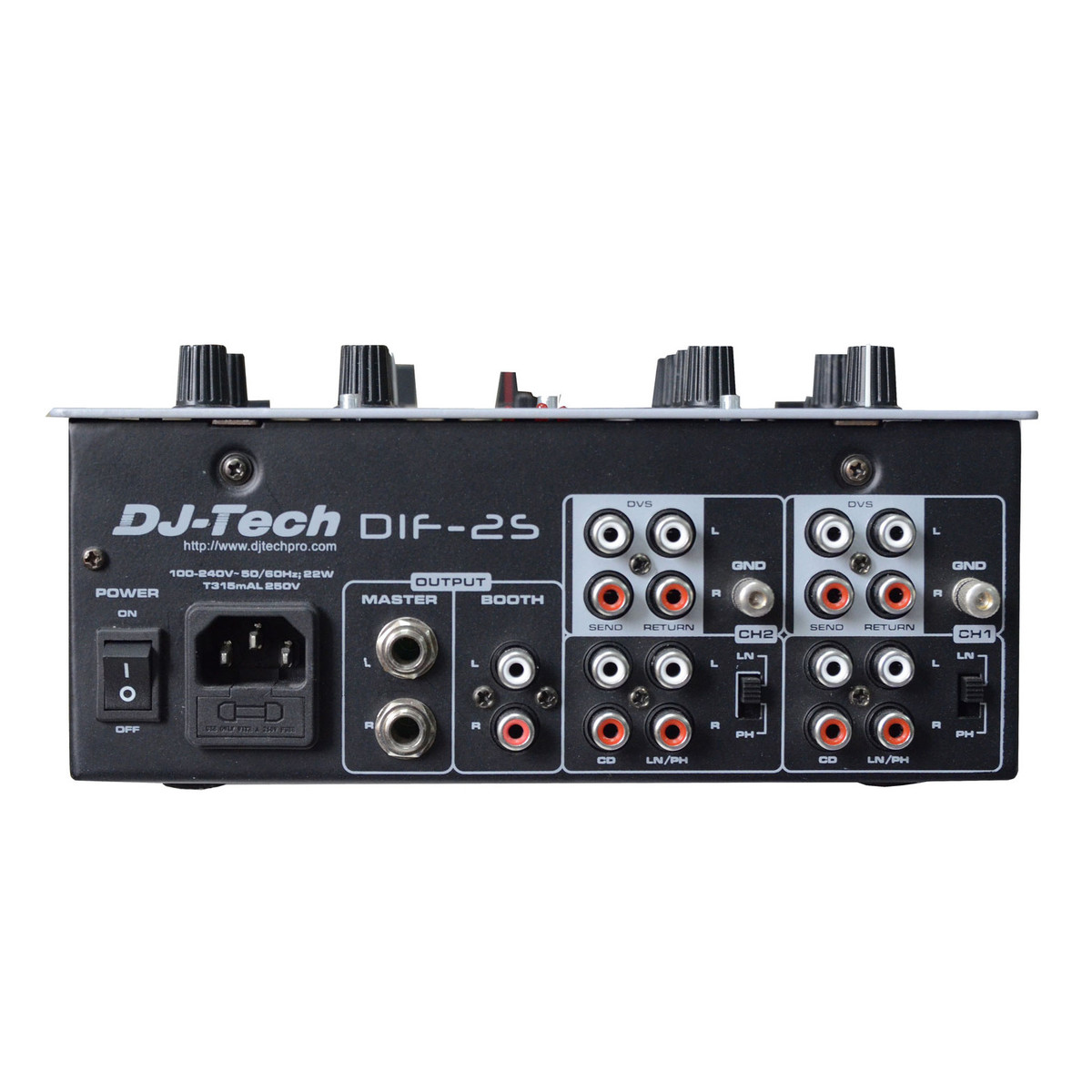 Dj Tech Dif 2s 2 Channel Scratch Mixer Black At Gear4music Stereo For Microphone With Channels Loading Zoom